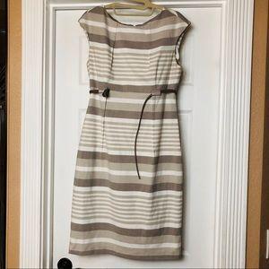 Calvin Klein Gray Striped Sheath Dress size 6